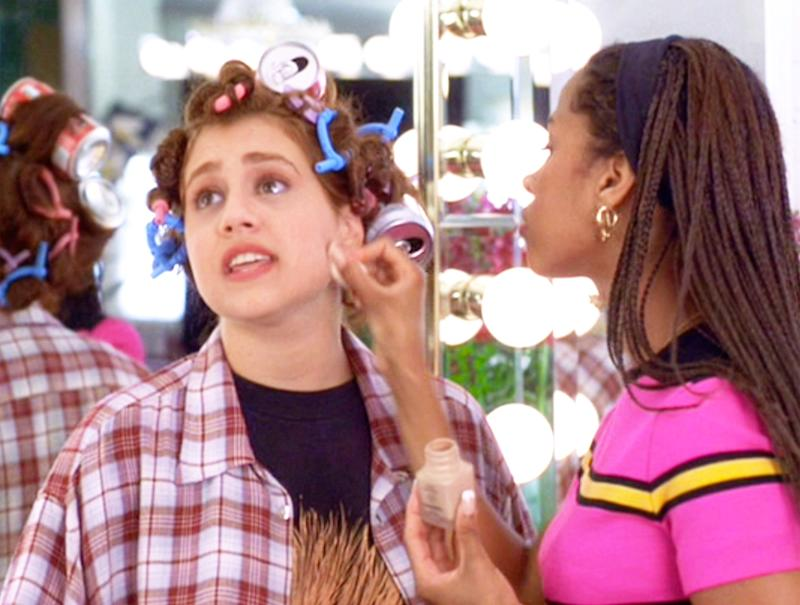 "LOS ANGELES - JULY 21: The movie ""Clueless"", written and directed by Amy Heckerling. Seen here from left, Brittany Murphy (as Tai Frasier) and Stacey Dash (as Dionne). Tai gets a makeover. Theatrical wide release, Friday, July 21, 1995. Screen capture. Paramount Pictures. (Photo by CBS via Getty Images)"