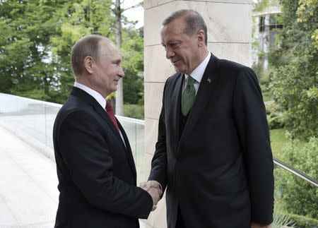 Russian President Putin meets his Turkish counterpart Erdogan in Sochi