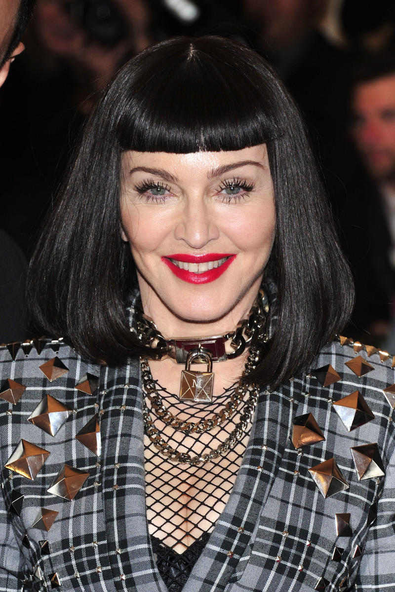 """Madonna attends The Metropolitan Museum of Art's Costume Institute benefit celebrating """"PUNK: Chaos to Couture"""" on Monday May 6, 2013 in New York. (Photo by Charles Sykes/Invision/AP)"""