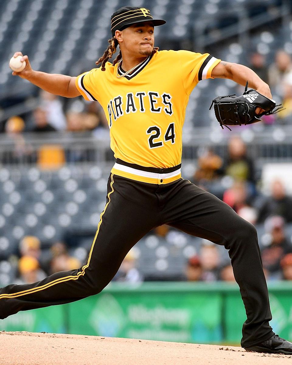 """<h1 class=""""title"""">April 22: Chris Archer</h1> <div class=""""caption""""> Anyone else hit with an intense urge to buy a '70s Pirates pillbox hat? </div> <cite class=""""credit"""">Justin Berl</cite>"""