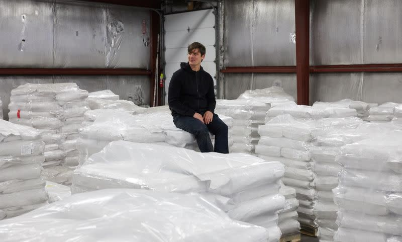 CEO and Founder of Eat Just Josh Tetrick at Eat Just facility in Appleton, Minnesota