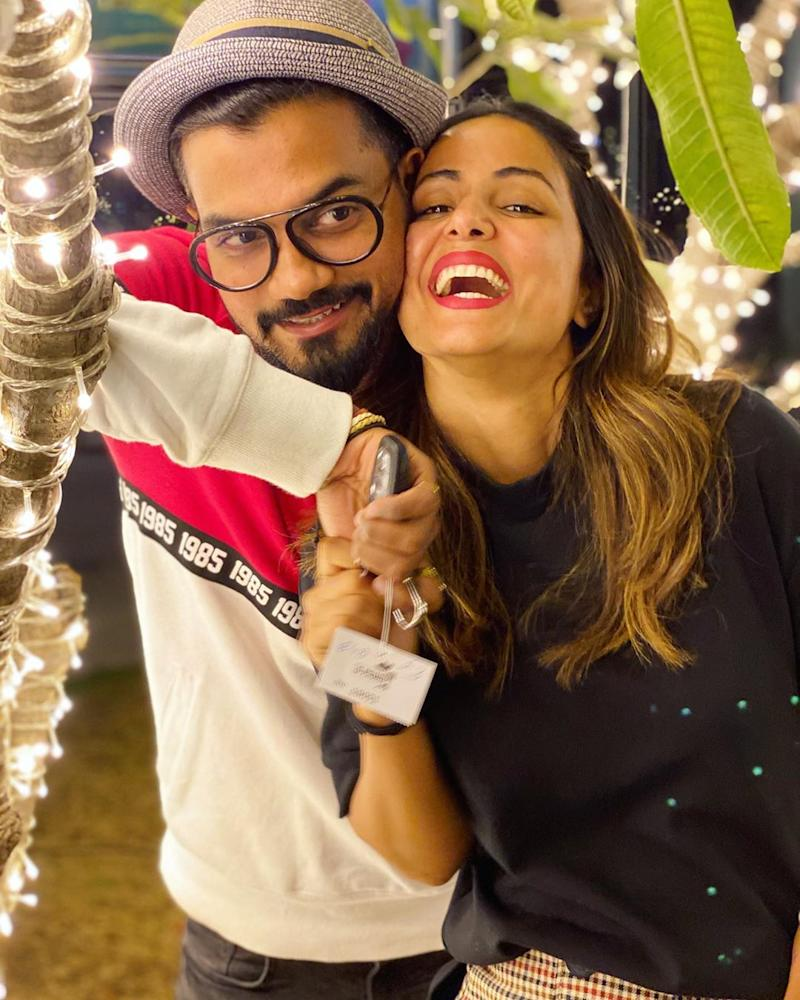 Hina Khan and Rocky Jaiswal