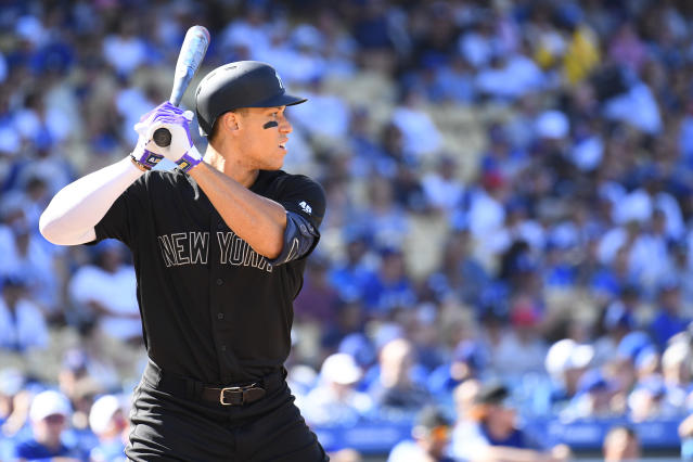 Aaron Judge and the Yankees remain No. 1 in the MLB Power Rankings. (Photo by Brian Rothmuller/Icon Sportswire via Getty Images)