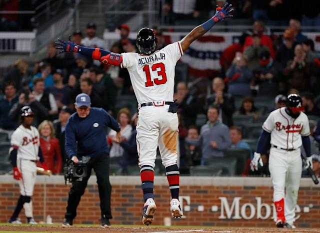 Ronald Acuña Jr. will be in a Braves uniform for a very long time. (Getty Images)