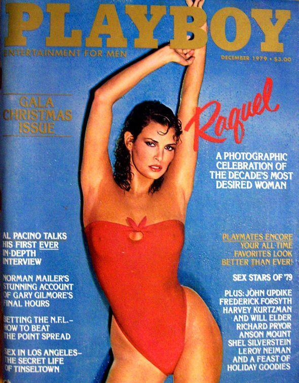 <p><strong>Issue: </strong>December 1979</p><p>Welch's tight red swimsuit might have kept her technically covered up, but was insanely sexy nonetheless. </p>