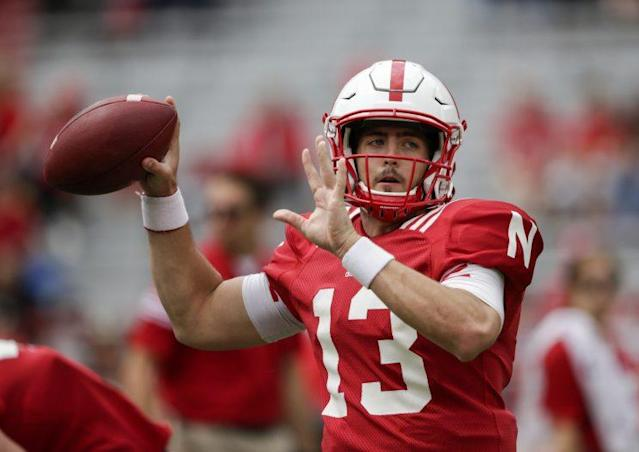 "<a class=""link rapid-noclick-resp"" href=""/ncaaf/players/241199/"" data-ylk=""slk:Tanner Lee"">Tanner Lee</a> is Nebraska's new starting QB. (AP)"
