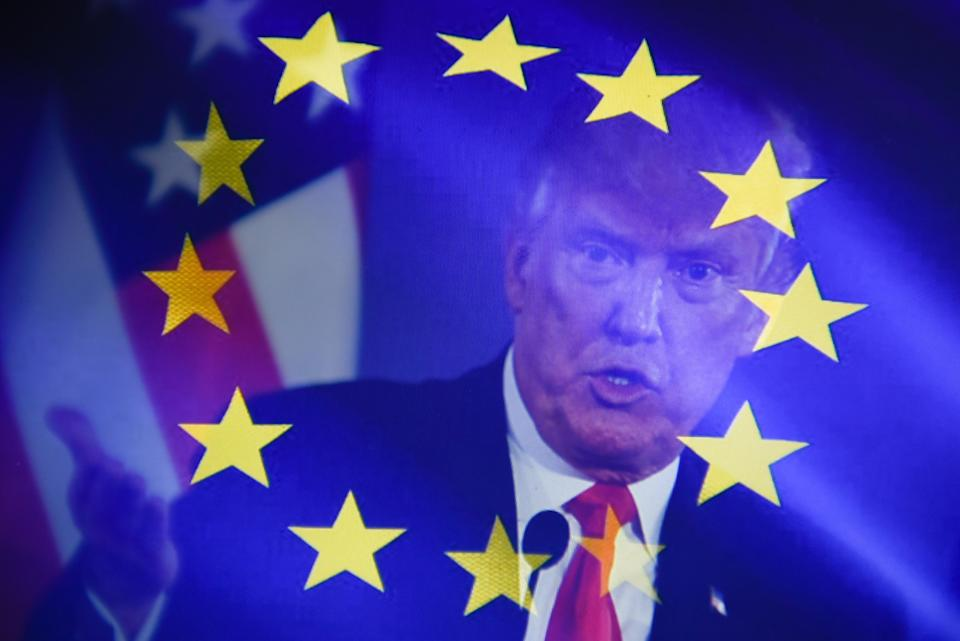 Donald Trump has said businesses that continue trading with Iran cannot trade with the US (Getty Images)