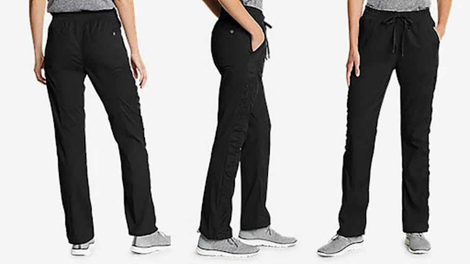 Searching for a pair of pants with functional comfort? Try the Eddie Bauer Trail Breeze Pants for women, on sale right now for $56.