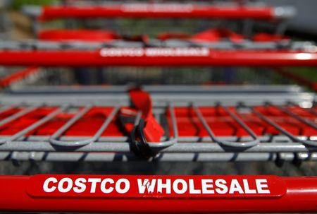 Shopping carts are seen at a Costco Wholesale store in Glenview