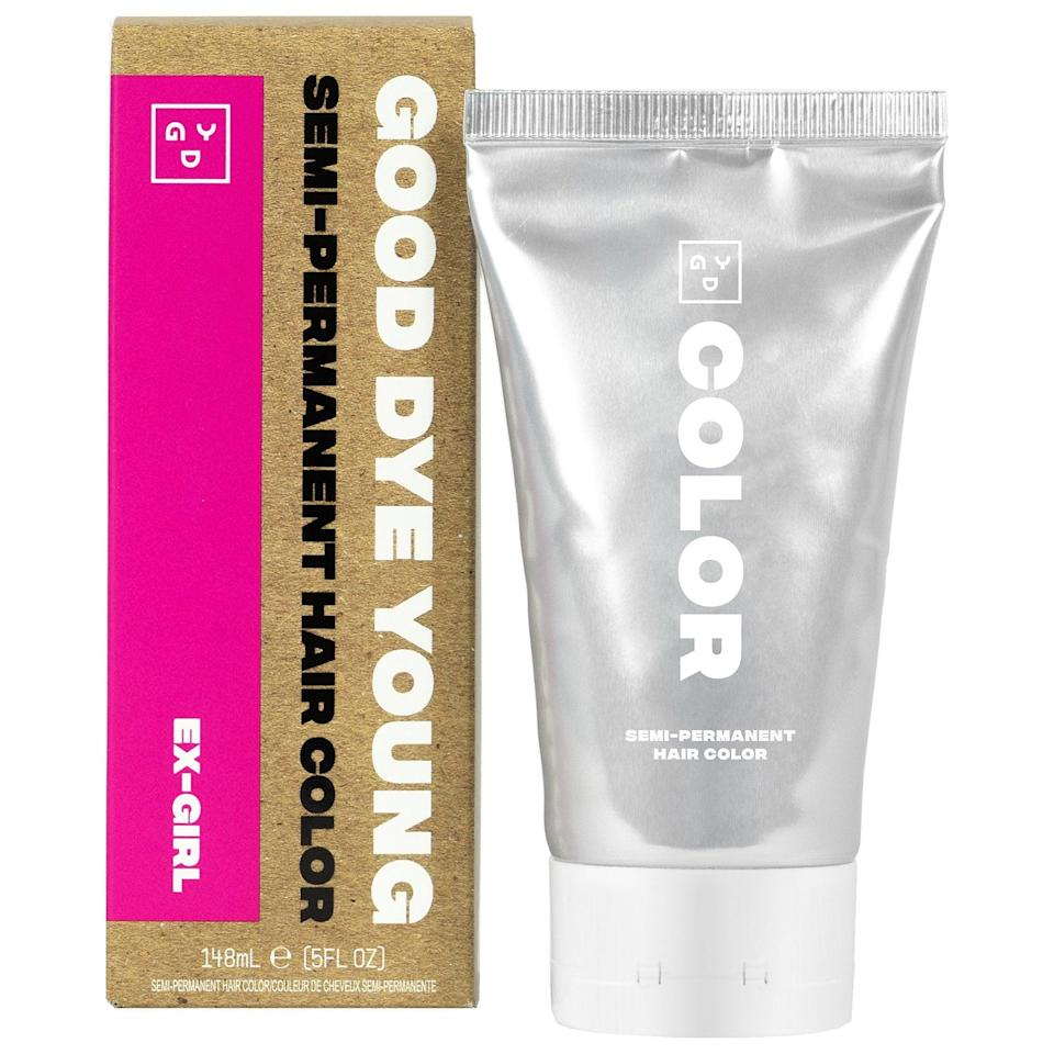<p>This <span>Good Dye Young Semi-Permanent Hair Color</span> ($18) is the one to pick if you want your new hue to last well past Oct. 31. Each of the nine shades offer professional-grade pigments in a nontoxic, peroxide-free formula so you can mix up vibrant results that last up to six weeks right at home.</p>