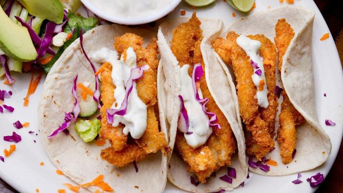 """Stupak may run some of <a href=""""http://www.empellon.com/"""" target=""""_blank"""">New York's hottest high-end Mexican restaurants</a>, but he turns to a surprisingly basic dressing whenever he's eating seafood-based tacos: mayonnaise. Try it on a fish taco and tell us that sweet tang isn't a welcome contrast to fried seafood."""