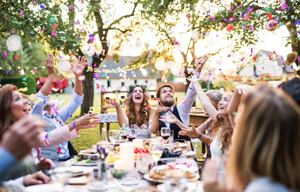 There are many benefits to small, more intimate weddings including spending more time with your guests. (Getty Images)