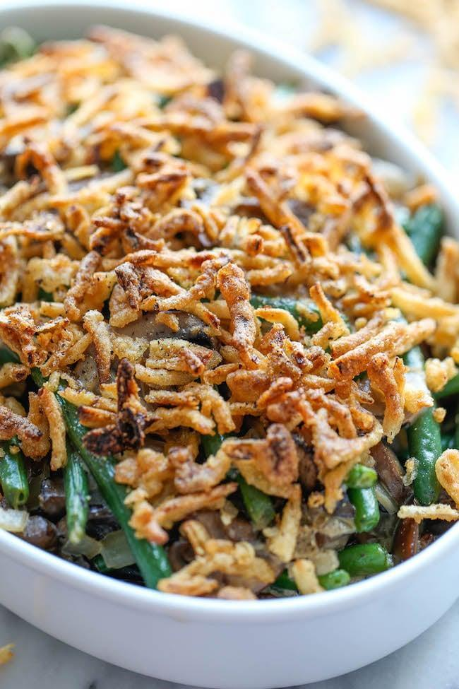 """<p>We love an easy recipe during the busy holiday season!</p> <p><b>Get the recipe:</b> <a href=""""https://damndelicious.net/2014/11/19/easy-green-bean-casserole/"""" class=""""link rapid-noclick-resp"""" rel=""""nofollow noopener"""" target=""""_blank"""" data-ylk=""""slk:easy green bean casserole"""">easy green bean casserole</a></p>"""