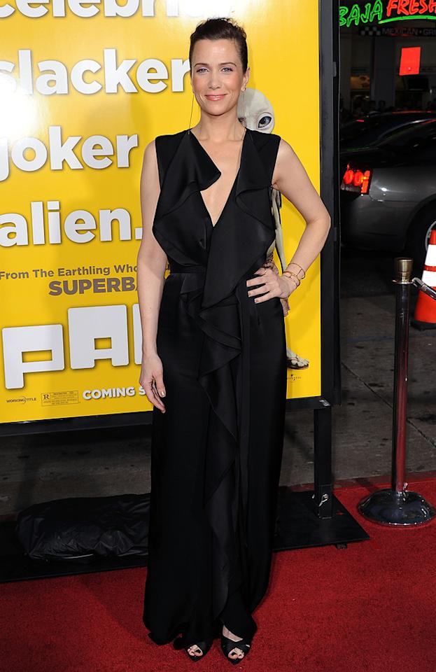 """<a href=""""http://movies.yahoo.com/movie/contributor/1809697704"""">Kristen Wiig</a> attends the Los Angeles premiere of <a href=""""http://movies.yahoo.com/movie/1810097993/info"""">Paul</a> on March 14, 2011."""