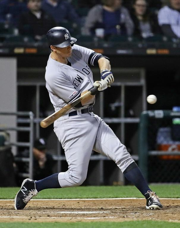 DJ LeMahieu of the New York Yankees leads the American League with a .336 batting average (AFP Photo/JONATHAN DANIEL)