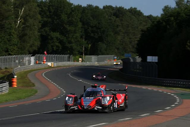 Fernando Alonso set the fastest time in second qualifying for the Le Mans 24 Hours, although neither of the leading Toyota TS050 HYBRIDs improved on their Wednesday lap times
