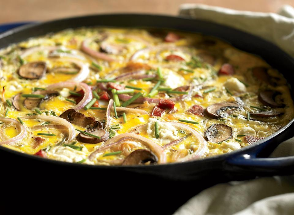Paleo sausage frittata with mushrooms