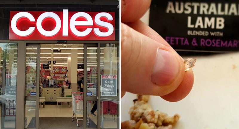 The shopper encouraged others to be wary of Coles sausages after finding glass while eating a meal. Source: Getty Images/Facebook
