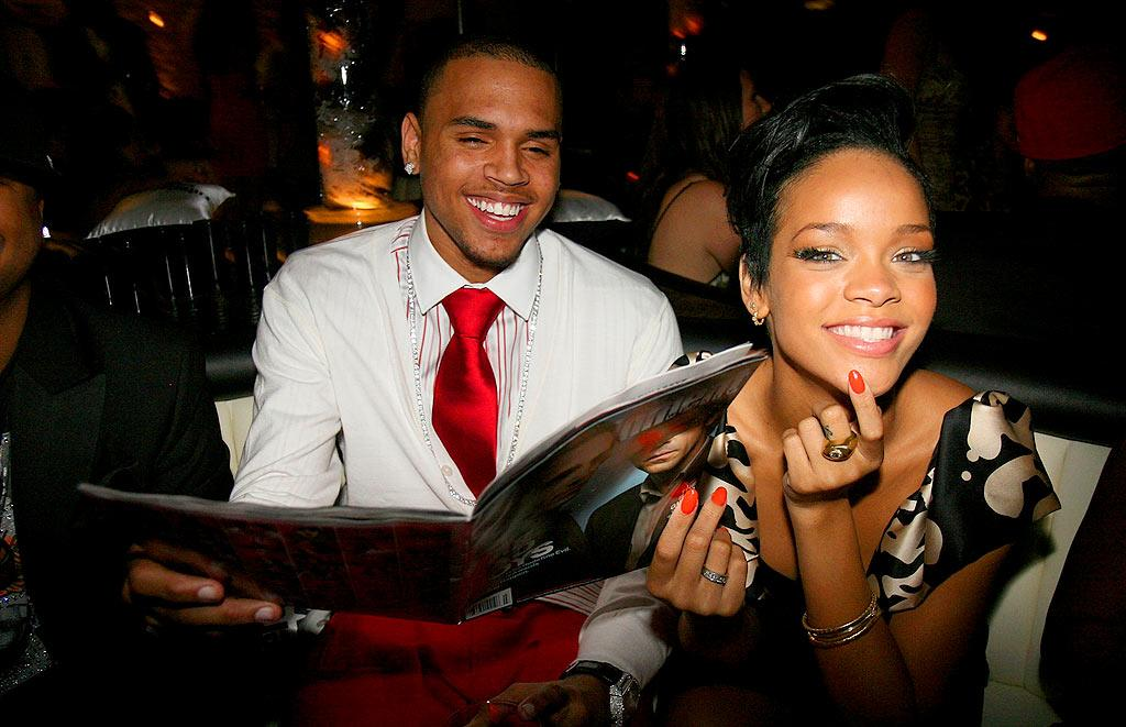 Chris Brown and Rihanna cozied up at the EW bash. Could the rumors that they are dating be true?