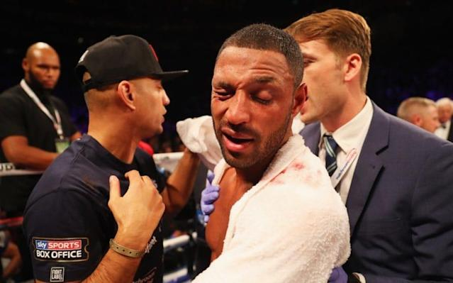 <span>Kell Brook required surgery on a broken eye socket sustained in his defeat to Golovkin</span> <span>Credit: Getty Images </span>