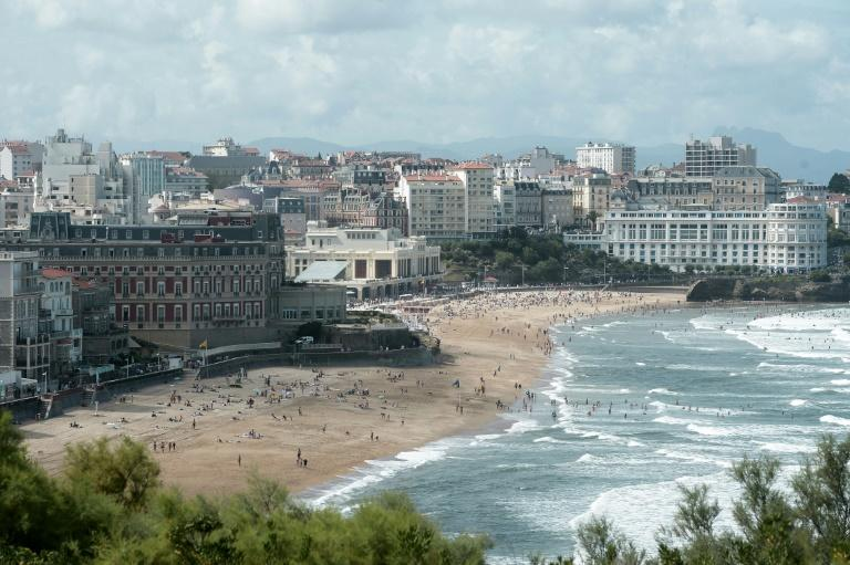 A raft of unprecedented measures are set to transform Biarritz into a security fortress as it gears up to host G7 leaders this weekend (AFP Photo/IROZ GAIZKA)
