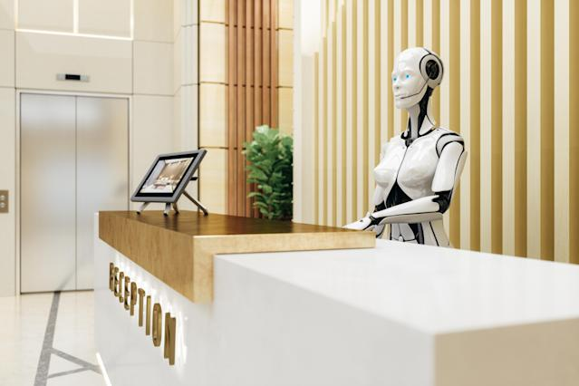 Could robots become ubiquitous in hotels? (Getty)