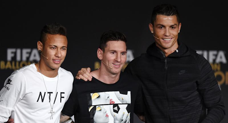 Spoiler alert: Neymar, Lionel Messi and Cristiano Ronaldo occupy the top three spots in our 2018 World Cup player rankings. (Getty)