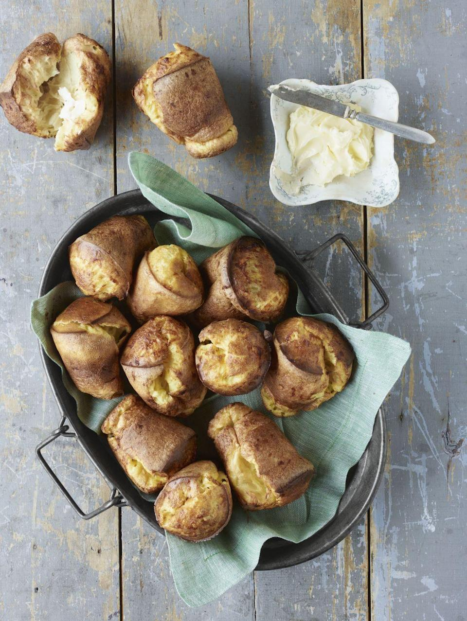 "<p>Consider these melt-in-your-mouth delights one of life's little luxuries—no rising or rolling necessary.</p><p><strong><a href=""https://www.countryliving.com/food-drinks/recipes/a4149/cheddar-popovers-recipe-clv0413/"" rel=""nofollow noopener"" target=""_blank"" data-ylk=""slk:Get the recipe"" class=""link rapid-noclick-resp"">Get the recipe</a>.</strong></p><p><a class=""link rapid-noclick-resp"" href=""https://www.amazon.com/Bellemain-Cup-Nonstick-Popover-Pan/dp/B00WX9KKTW/?tag=syn-yahoo-20&ascsubtag=%5Bartid%7C10050.g.738%5Bsrc%7Cyahoo-us"" rel=""nofollow noopener"" target=""_blank"" data-ylk=""slk:SHOP POPOVER PANS"">SHOP POPOVER PANS</a><br></p>"