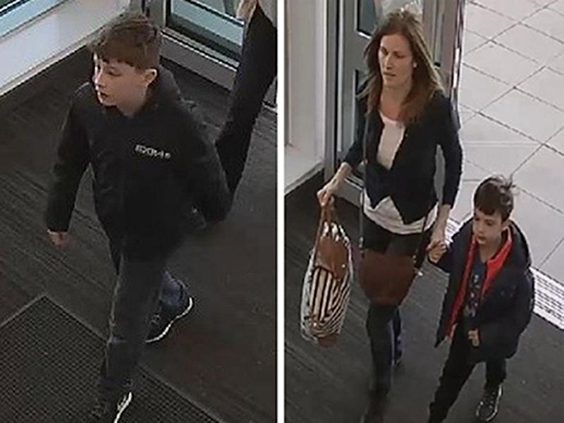 CCTV images issued by Nottinghamshire Police show Louis Madge (left) with Samantha Baldwin and Dylan Madge: Nottringhamshire Police