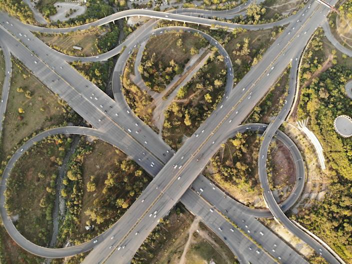 A busy section of freeway in Riverside County (represented here by a stock image) has been the scene of a series of shootings.