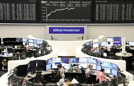 European stocks rise on China stimulus despite weak U.S., German data