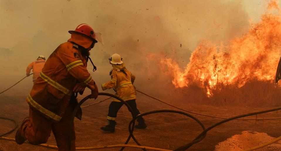 RFS firefighters battle catastrophic fire conditions.