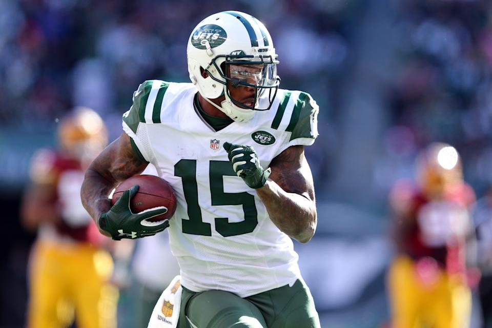 """The Jets wide receiver hasn't been shy about advocating for mental health through his initiative <a href=""""project375.org"""" target=""""_blank"""">Project 375</a>. He also opened up about <a href=""""http://www.huffingtonpost.com/brandon-marshall/the-way-people-talk-about-mental-health_b_8258152.html"""">his own experience with borderline personality disorder</a> in a HuffPost blog.<br /><br />""""We need to accept that mental illness is a disease — and like any other disease, it needs stronger research, early screening and treatment, especially for young people,"""" he wrote."""