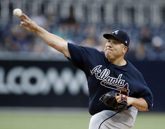 Bartolo Colon made his last start in a Braves uniform on Wednesday night. (AP)