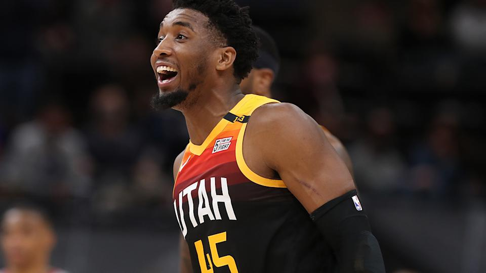 Donovan Mitchell scored 22 points for the Jazz in their victory over the Oklahoma City Thunder. (Photo by Melissa Majchrzak/NBAE via Getty Images)