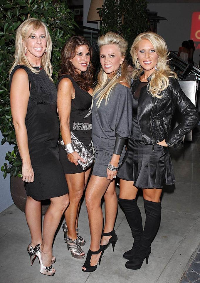 """Despite the fact that Vicki Gunvalson, Lynne Curtin, Tamra Barney, and Gretchen Rossi's spray tans and surgical enhancements hurt our eyes, we can't stop ourselves from watching """"The Real Housewives of Orange County"""" every Thursday night. Don't judge! Jean Baptiste Lacroix/<a href=""""http://www.wireimage.com"""" target=""""new"""">WireImage.com</a> - November 10, 2009"""