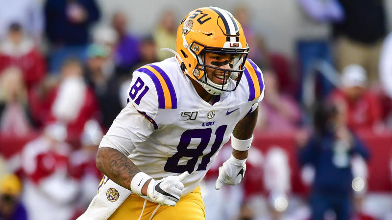 LSU tight end Thaddeus Moss signed with Washington after the draft. (AP Photo/Vasha Hunt)