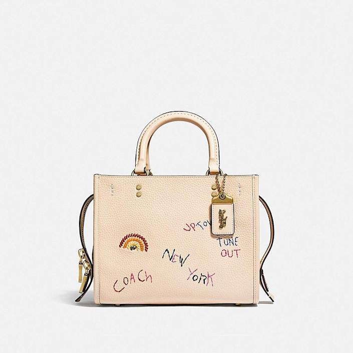 <p>Treat yourself to this cute <span>Coach Rogue Bag 25 With Embroidery </span> ($695).</p>