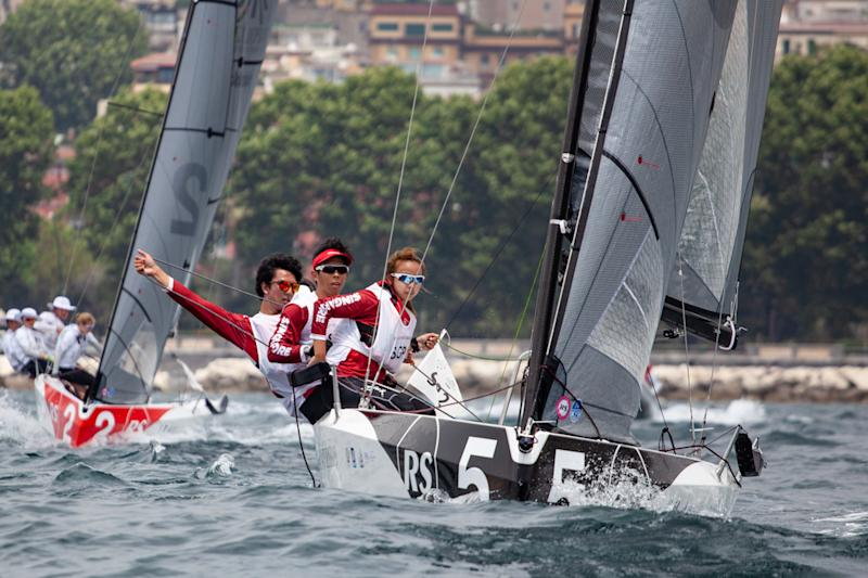The bronze-winning Singapore sailing team in action at the 2019 World University Games. (PHOTO: International University Sports Federation)