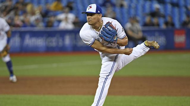 Blue Jays closer Roberto Osuna has been suspended for 75 games for violating Major League Baseball's domestic violence policy, Commissioner Rob Manfred announced on Friday.