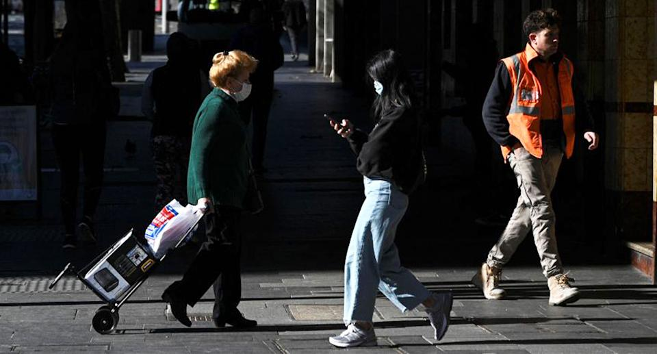 Sydney residents during the Covid lockdown. Source: Getty