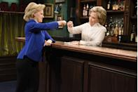 <p>Kate McKinnon also took on the role of Hillary Clinton on a <em>Saturday Night Live </em>skit. </p>