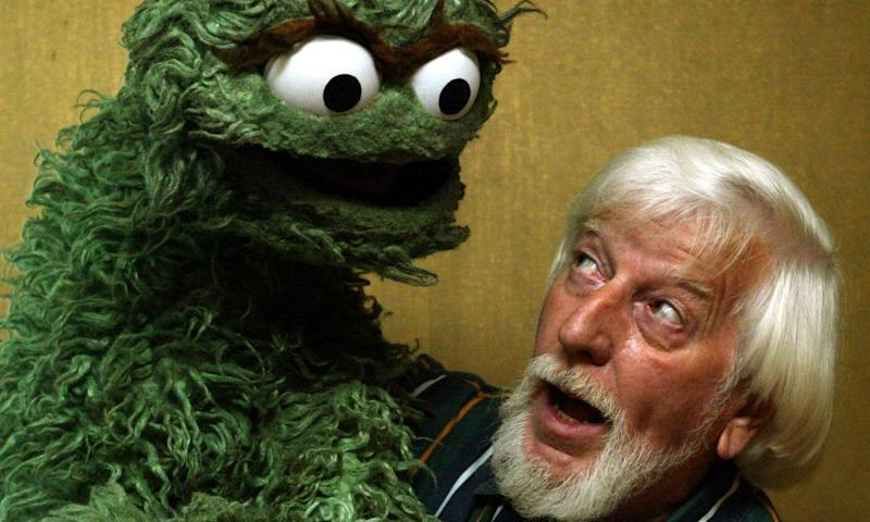 Caroll Spinney with his character Oscar the Grouch