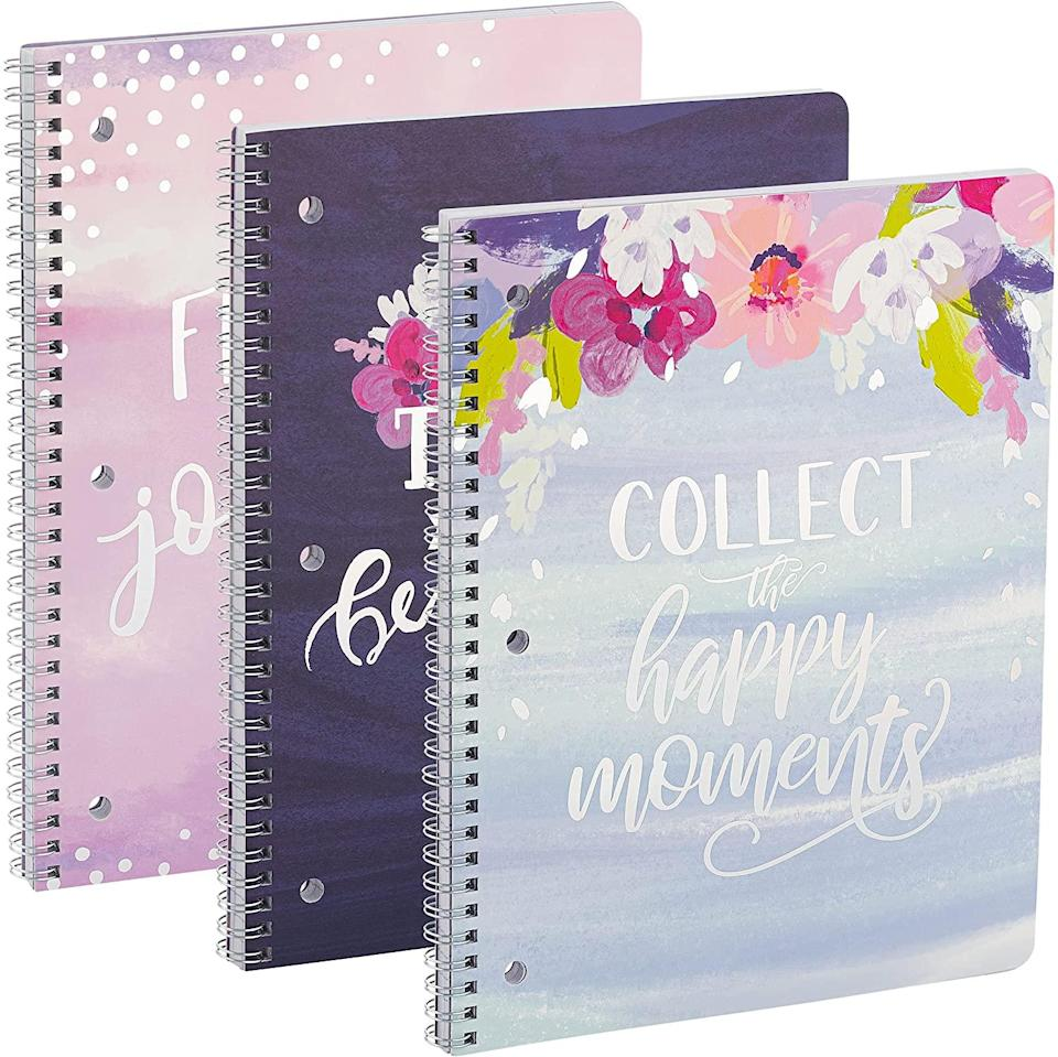 Notebooks with floral design