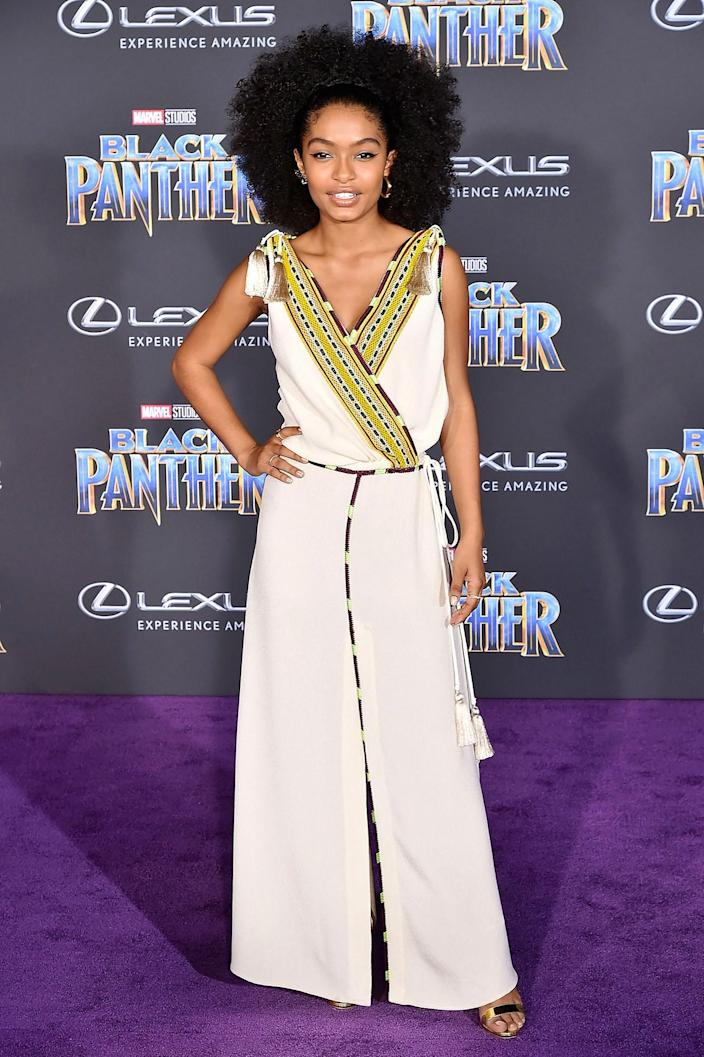"""<h1 class=""""title"""">Yara Shahidi</h1> <div class=""""caption""""> Wearing Etro. </div> <cite class=""""credit"""">By David Crotty/Patrick McMullan/Getty Images.</cite>"""