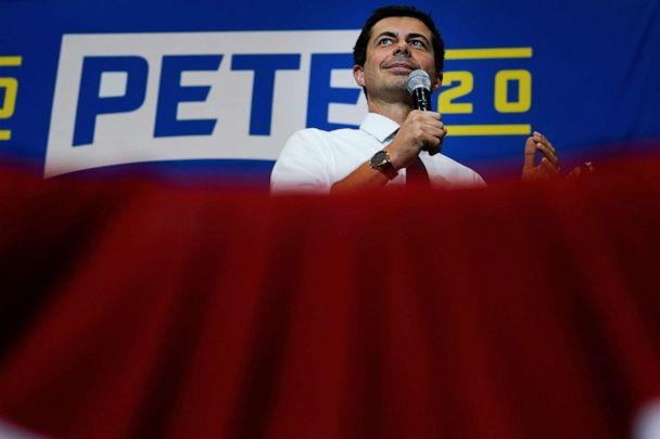 PHOTO: Pete Buttigieg, South Bend Mayor and Democratic presidential hopeful, speaks at a campaign event in Davenport, Iowa, Sept. 24, 2019. (Elijah Nouvelage/Reuters)