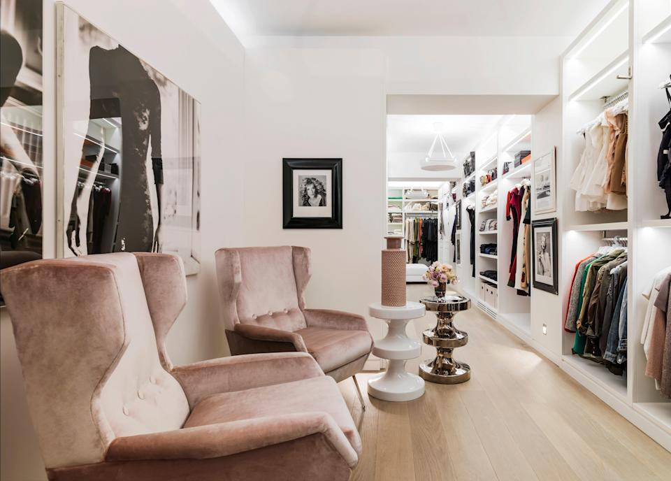 The large closet and dressing area is a highlight of the residence.