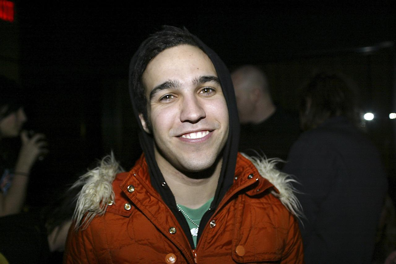 Pete Wentz of Fall Out Boy during Absolut Kravitz Launch Party and After Party at Marquee at Marquee in New York City, New York, United States. (Photo by Bennett Raglin/WireImage)