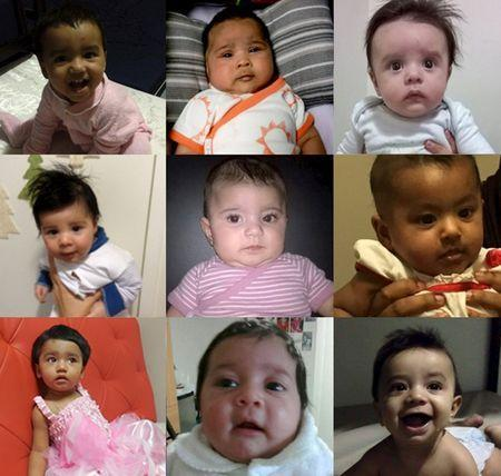 A combination handout picture shows some of the babies born in Australia to asylum seeker mothers who face deportation to one of Australia's controversial offshore asylum seeker detention centres on the Pacific Island of Nauru, in this undated handout photo released February 2, 2016. REUTERS/Human Rights Law Centre/Handout via Reuters