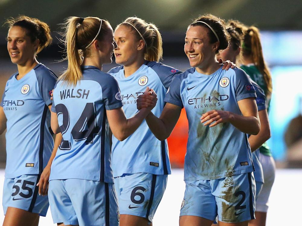 Lucy Bronze was the hero on the night: Getty